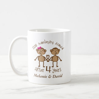 4th Wedding Anniversary His Hers Gift Mug