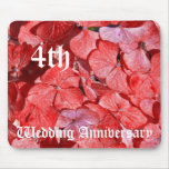 4th wedding anniversary - Hydranga Mousepads