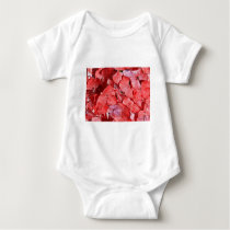 4th Wedding Anniversary Hydrangea Baby Bodysuit