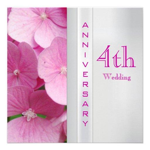 4th Wedding Anniversary Invitation