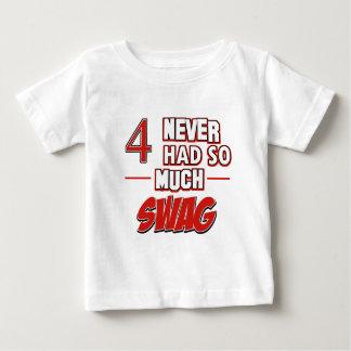 4th year old birthday designs baby T-Shirt