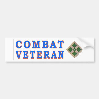 4thINFANTRY DIVISION Car Bumper Sticker