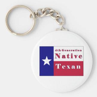 4to Bandera nativa del Texan de la generación Llaveros