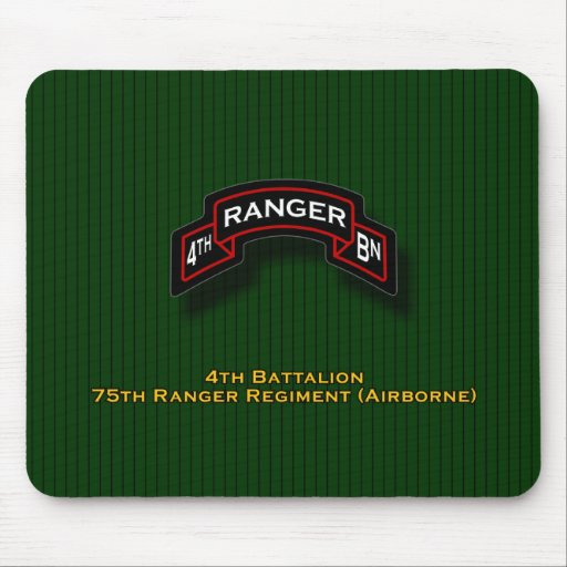 4to Bn, 75.o regimiento de guardabosques - voluta  Mousepads