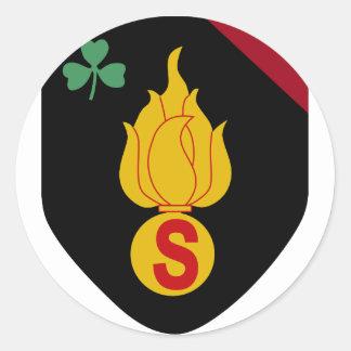 4to Brigada de Infanry del belga Pegatina Redonda