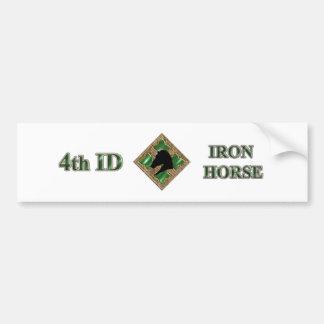 4to Caballo de hierro de la identificación Etiqueta De Parachoque