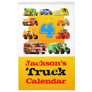 4to ¡Calendario grande del camión del cumpleaños! Calendario De Pared