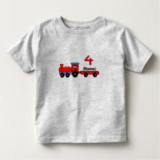 4to Camiseta personalizada cumpleaños del tren