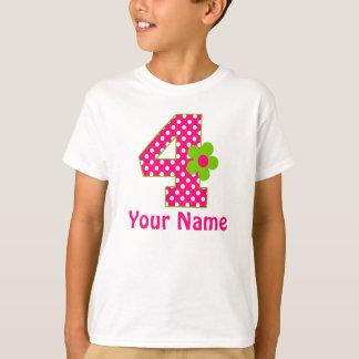 4to Camiseta rosada y verde del chica del