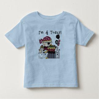 4to Camisetas y regalos del pirata del cumpleaños Remeras