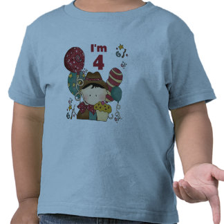 4to Camisetas y regalos del vaquero del cumpleaños