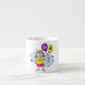 4to Chica del cumpleaños Taza Espresso