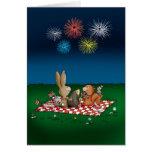 4to chistoso de la tarjeta de julio con los fuegos