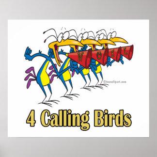 4to cuarto día de cuatro pájaros de llamada de nav poster