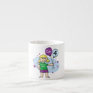 4to cumpleaños - cumpleaños de los chicas tazitas espresso