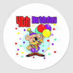 4to Cumpleaños de Australia del cumpleaños Pegatinas Redondas