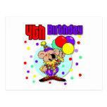 4to Cumpleaños de Australia del cumpleaños Postal