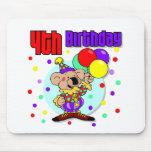 4to Cumpleaños de Australia del cumpleaños Tapete De Ratón