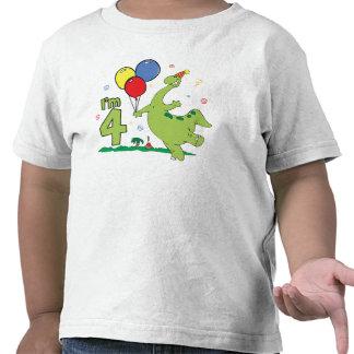 4to cumpleaños de Dino Camisetas