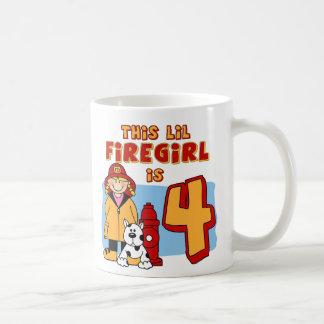 4to cumpleaños de Lil Firegirl Taza De Café