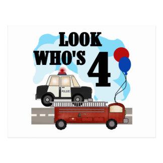 4to cumpleaños de los héroes diarios postal