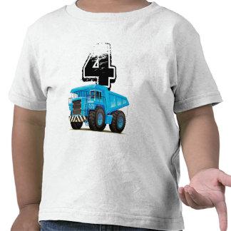 4to cumpleaños del camión azul camiseta