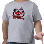 4to Cumpleaños del coche de carreras Camisetas