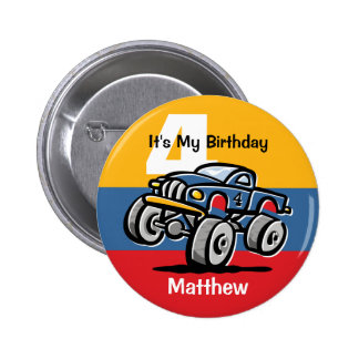 4to cumpleaños del monster truck pin