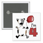 4to Cumpleaños del perrito del cumpleaños Pin
