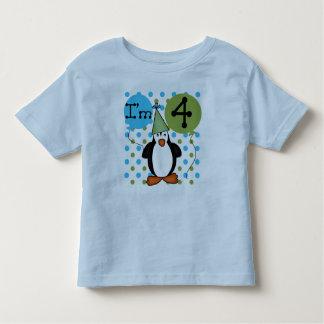 4to cumpleaños del pingüino tshirt