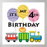 4to Cumpleaños del tren del cumpleaños Posters