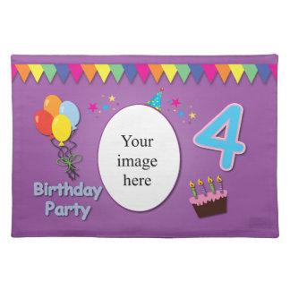 4to cumpleaños feliz Placemat Mantel Individual