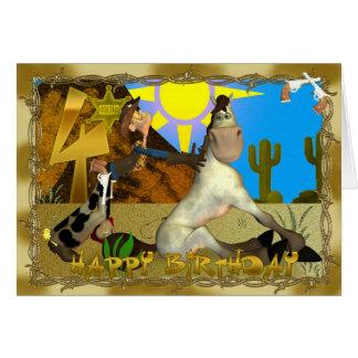 4to cumpleaños Tooting de arraigo feliz Felicitacion