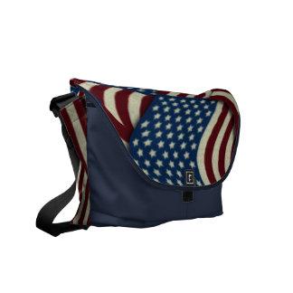 4to De banderas americanas blancas de julio y Bolsa De Mensajería