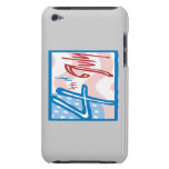 4to De julio Barely There iPod Protectores