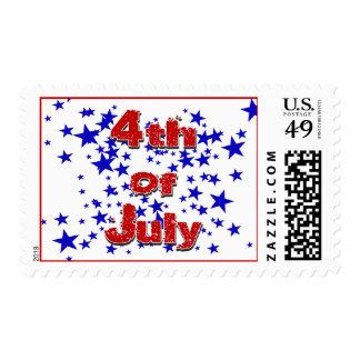 4to de julio-julio de 4, productos 2009 de la estampillas