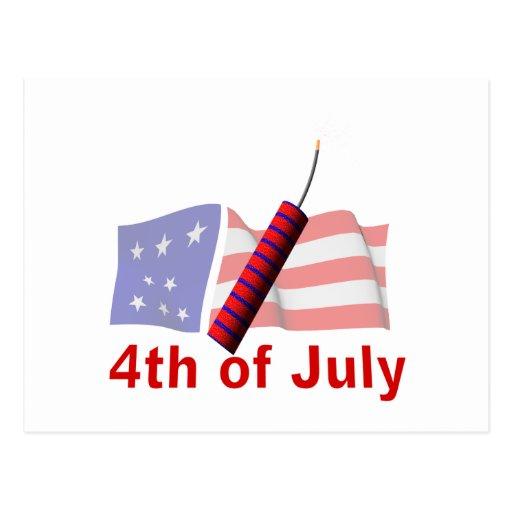 4to De julio Tarjeta Postal