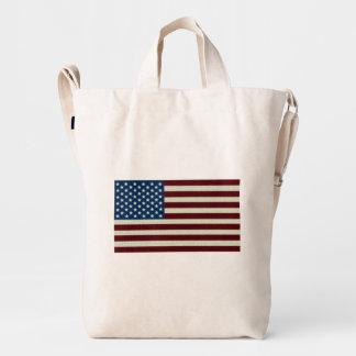 4to De la bandera americana blanca de julio y azul Bolsa De Lona Duck