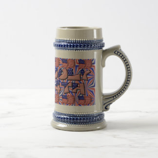 4to de la bandera de julio taza de café