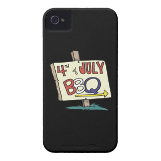 4to De la barbacoa de julio Case-Mate iPhone 4 Carcasas