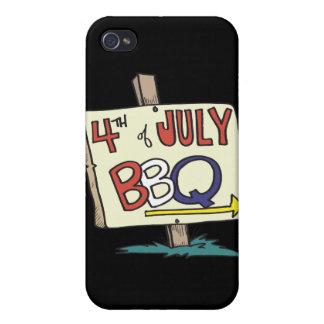 4to De la barbacoa de julio iPhone 4 Fundas
