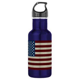 4to De la botella de agua azul de la bandera