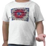 4to de la camisa azul blanca roja del niño de los