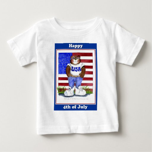 4to de la camiseta de julio playera para bebé