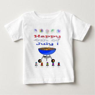4to de la camiseta del niño del Cookout de julio