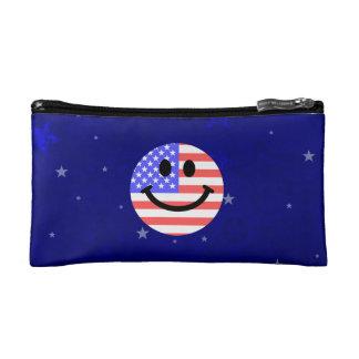 4to de la cara del smiley de la bandera americana