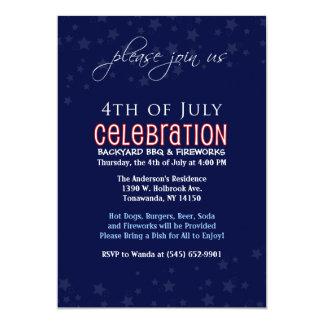 4to de la invitación de la celebración de julio -