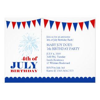 4to de la invitación de la fiesta del cumpleaños d
