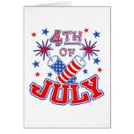 4to de la invitación de la tarjeta de julio
