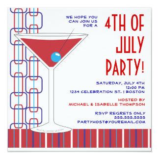 4to de la invitación del cóctel de julio Martini